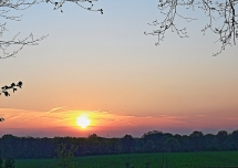 Sonnenuntergang am Gevelsberg in Klein Reken