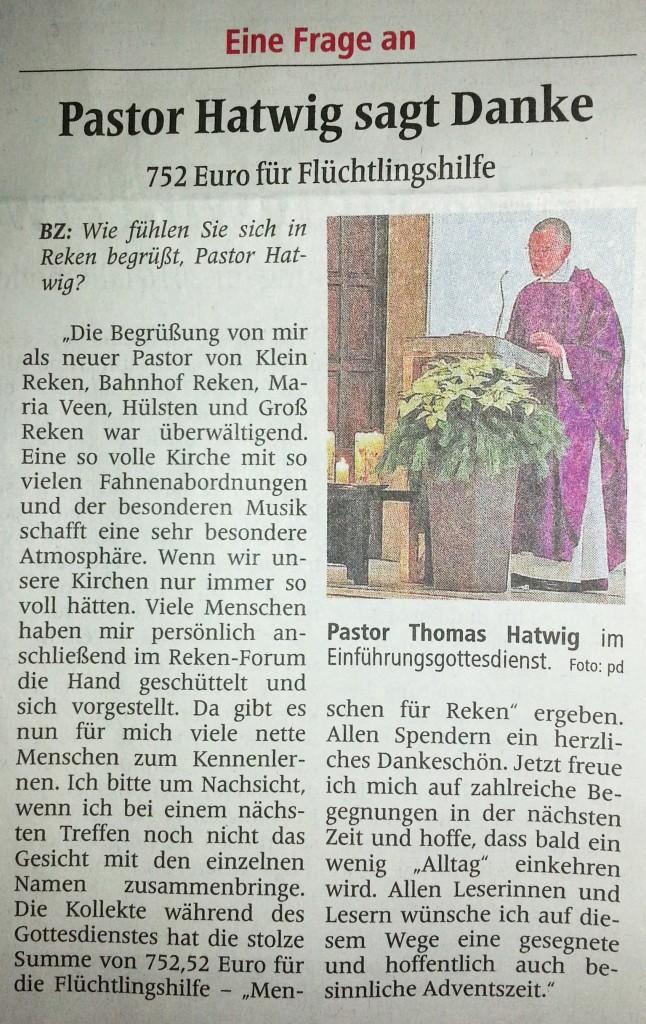Artikel aus der Borkener Zeitung vom 5.12.2015