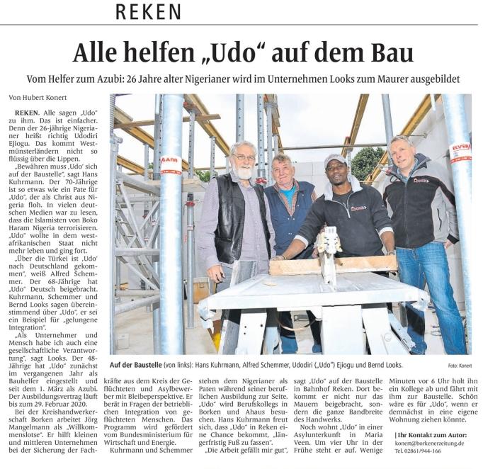 Bericht der Borkener Zeitung vom 8.6.2017