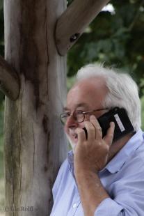 """Der """"Chef"""" - immer im Einsatz ... ob telefonisch ..."""